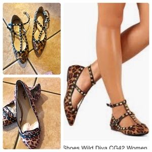 "Shoes - NWOT, Wild Leopard Studded Flats "" Bundle Deal"""